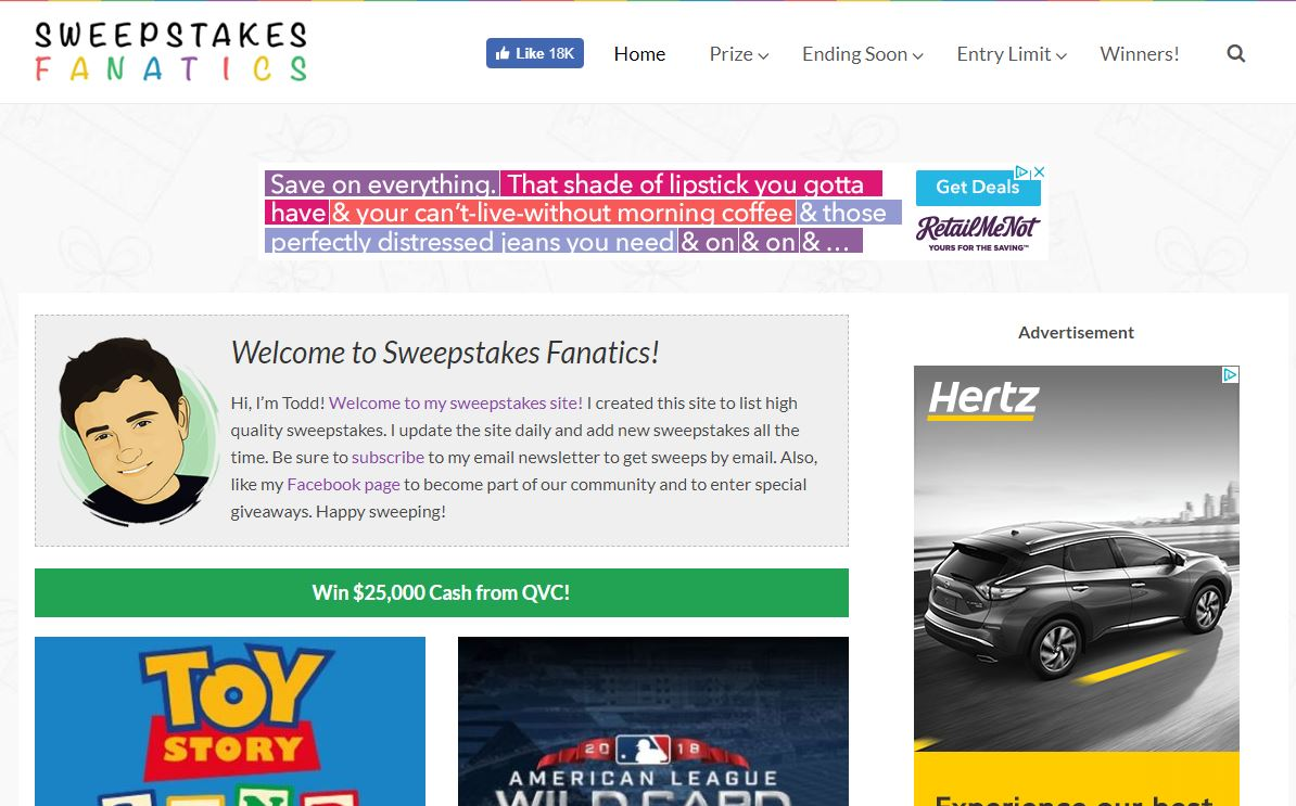 Sweepstakes Fanatics - Visit Now