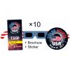 Eclipse Glasses Standard - Stars & Stripes Set 10x