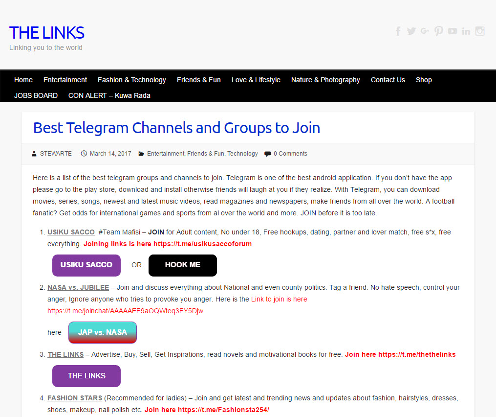 Discussion groups in channels telegram