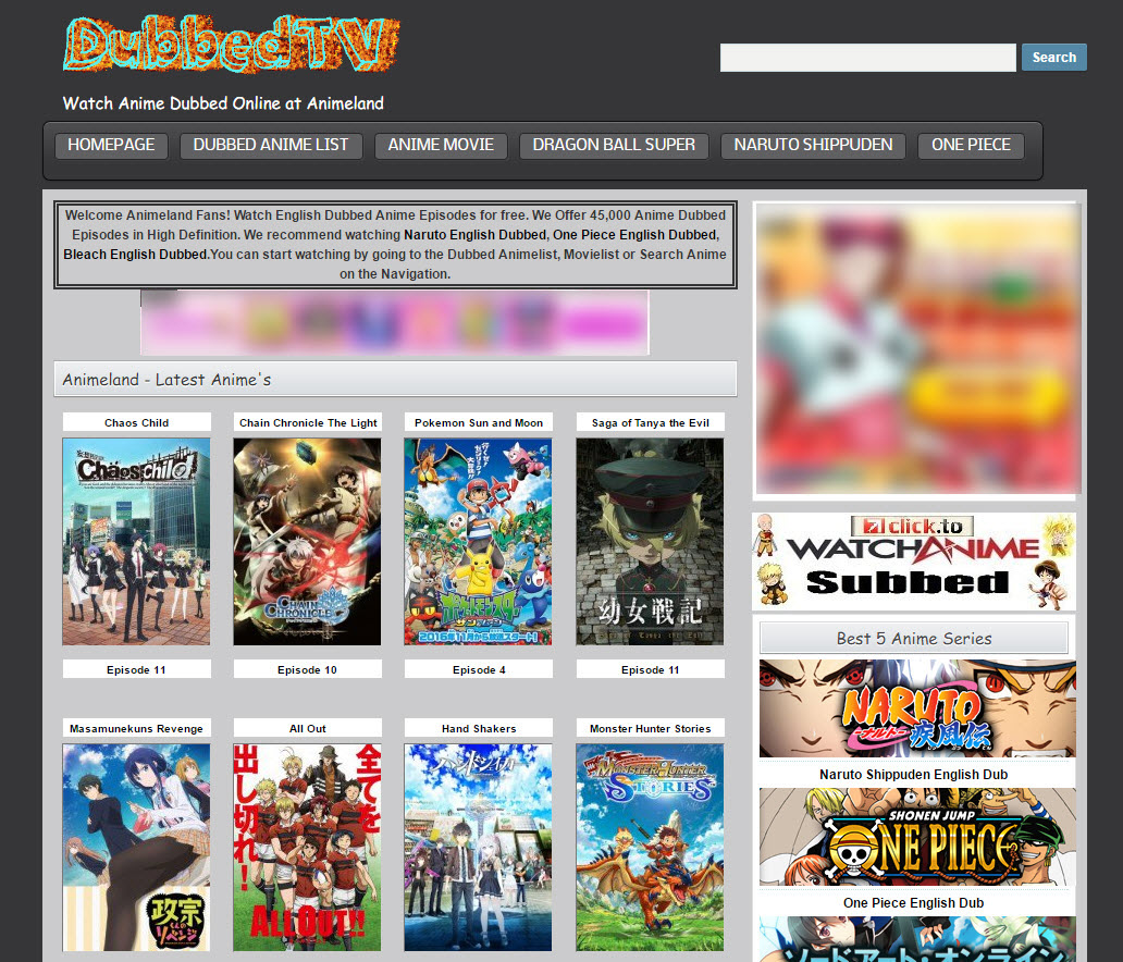 best websites for english dubbed anime
