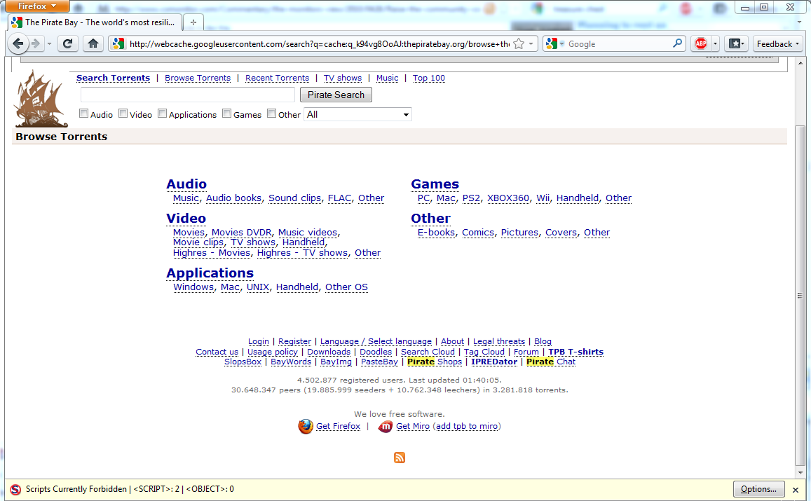 the pirate bay search by user