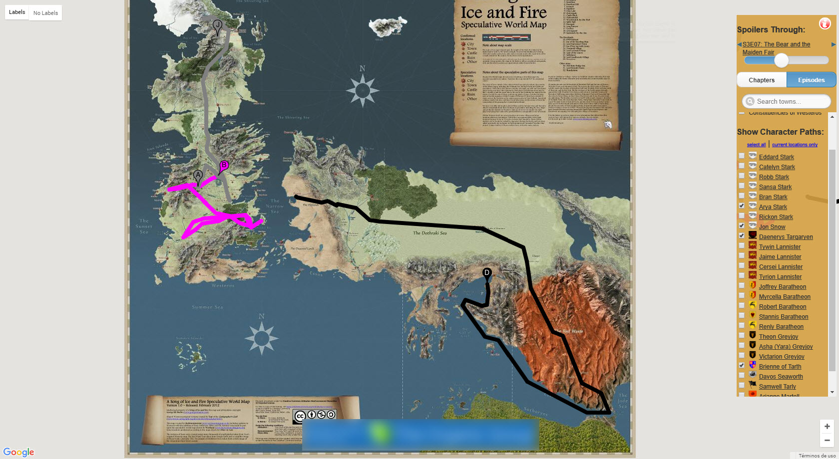 Interactive Game of Thrones Map with Spoilers Control ...