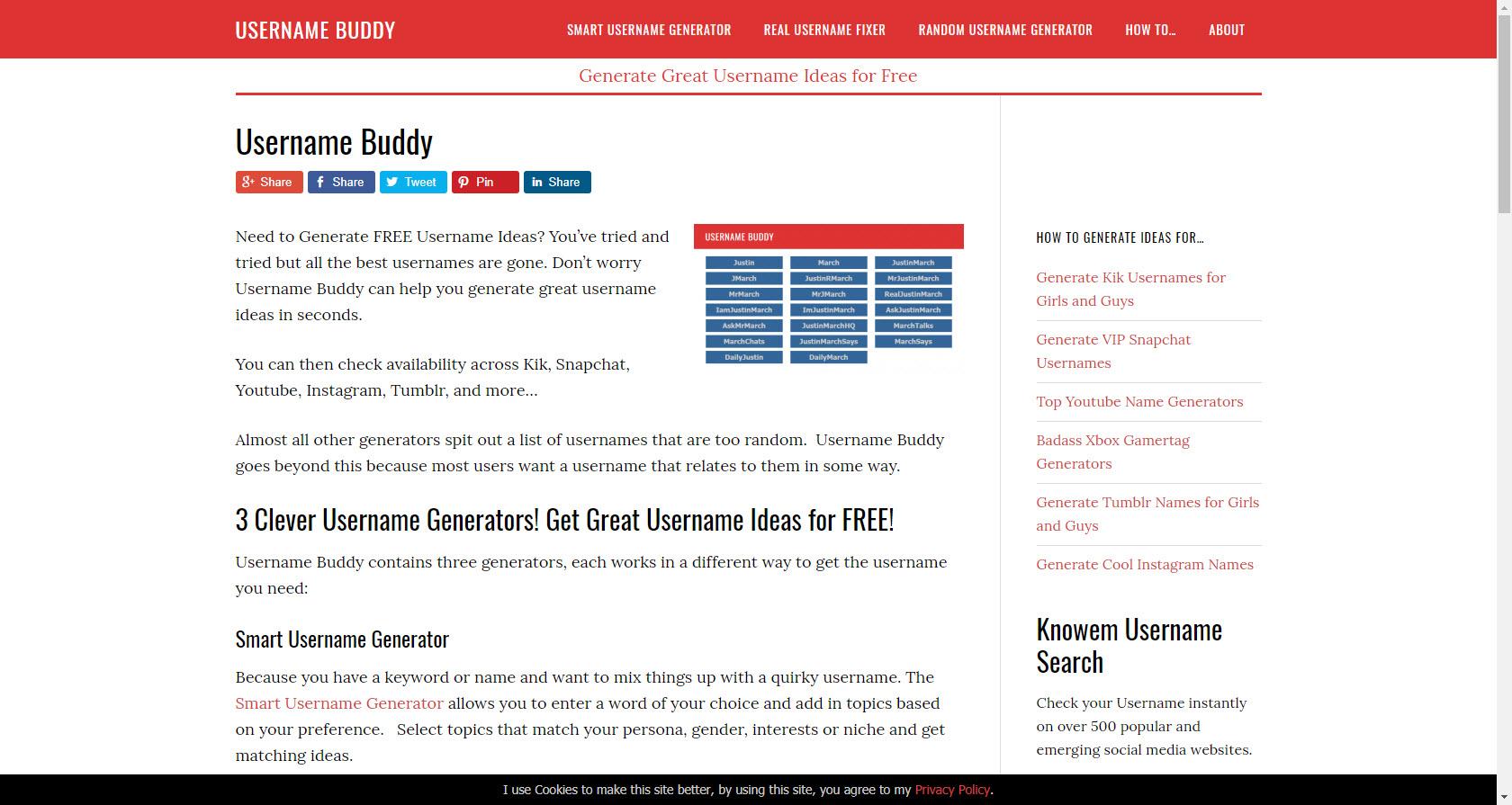 Username Buddy - Visit Now