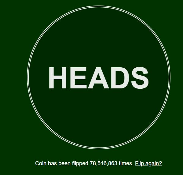 just flip a coin