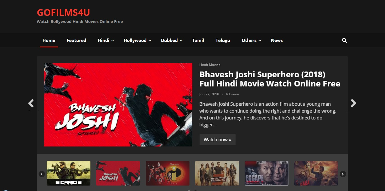 new hindi movie website free