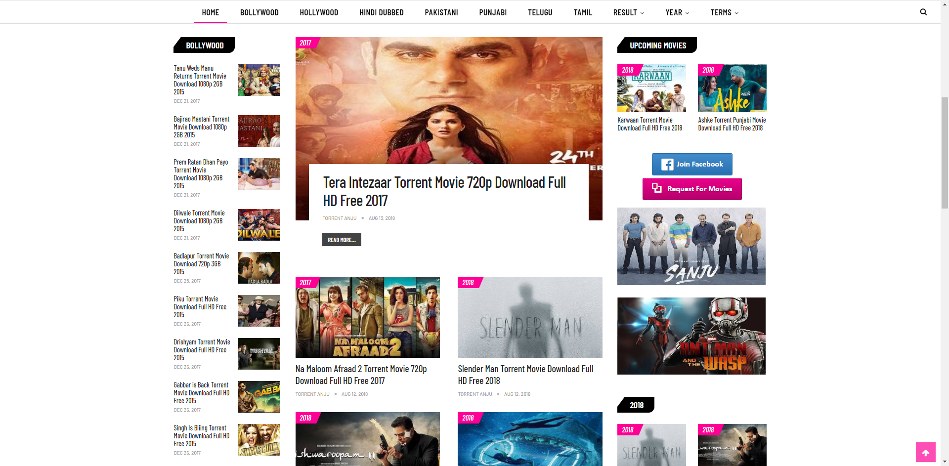 torrents for downloading bollywood movies