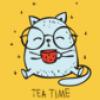 Cute Cat Doodle Emoji Stickers