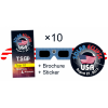 Eclipse Glasses Standard - Stars & Stripes Set 10x
