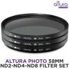 Altura Photo Neutral Density Professional Photography Filter Set