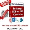 Dux EDB to PST Recovery Software