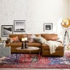 Townsend Roll Arm Leather Chaise Sofa Sectional