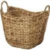 Tall Water Hyacinth Wicker Basket