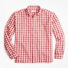 Brook Brothers Gingham Brushed Cotton Flannel Sport Shirt