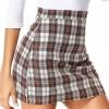 ZEGOLO Women's Plaid Mini Skirt